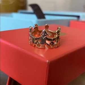 James Avery 14K Yellow Gold Paper Doll Ring size 7
